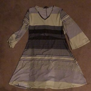 RobertLouis green and gray stripped dress